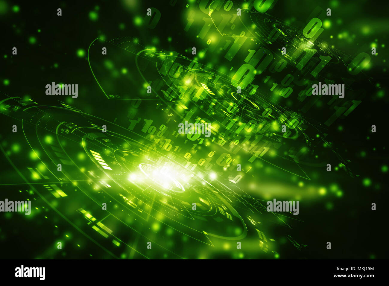 Digital Abstract technology background, Binary Background, futuristic background, cyberspace Concept - Stock Image