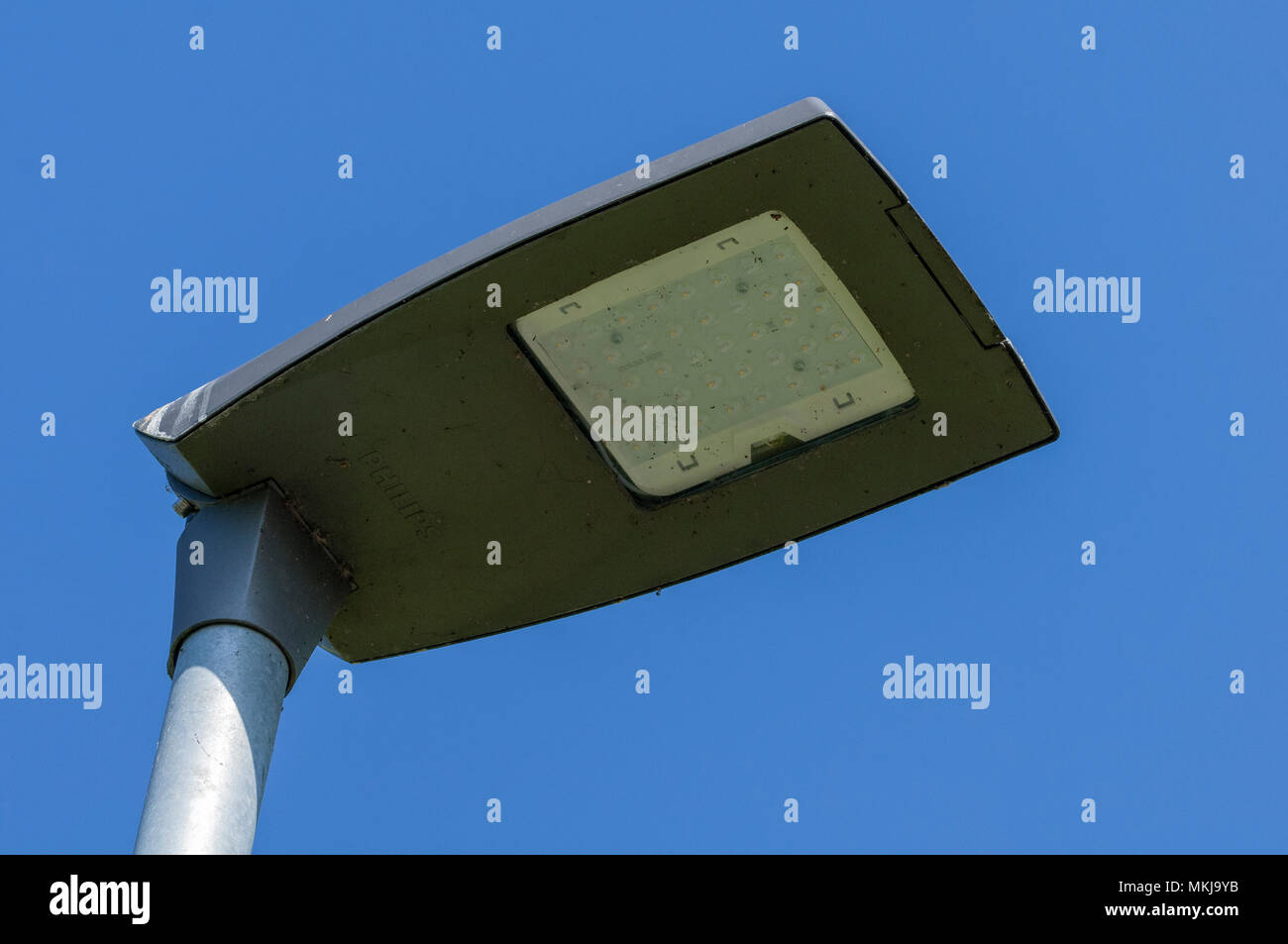LED streetlight streetlamp street light - Stock Image