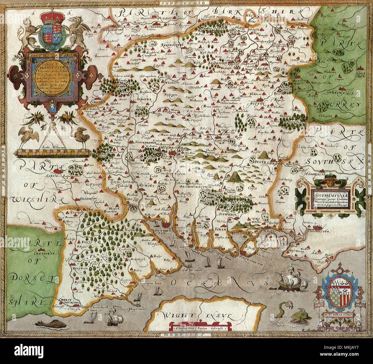 Hampshire 1579 - Stock Image
