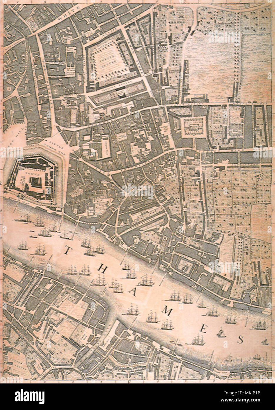London, Including Tower 1746 - Stock Image