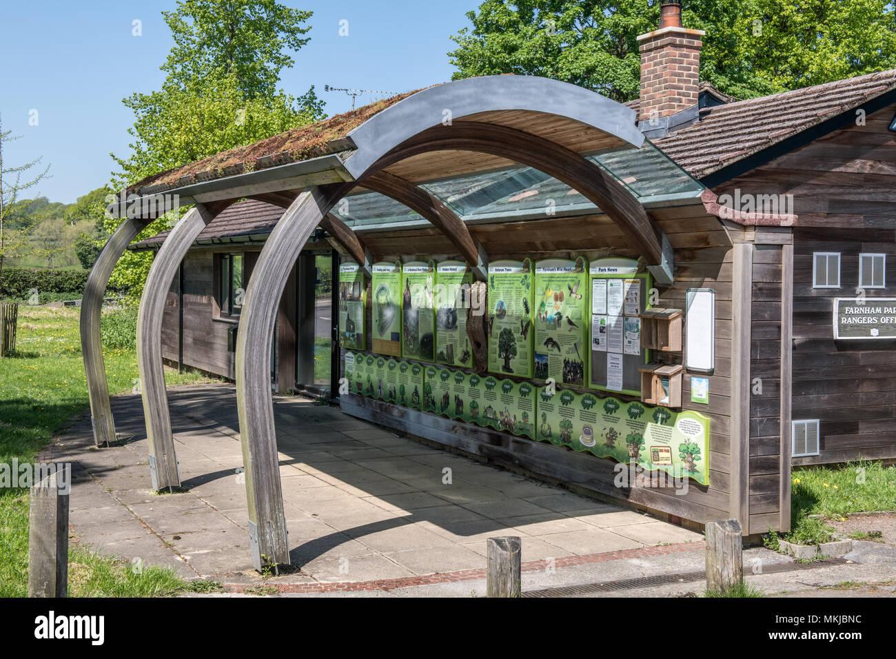 The Entrance to Farnham Park, Farnham in Surrey - Stock Image