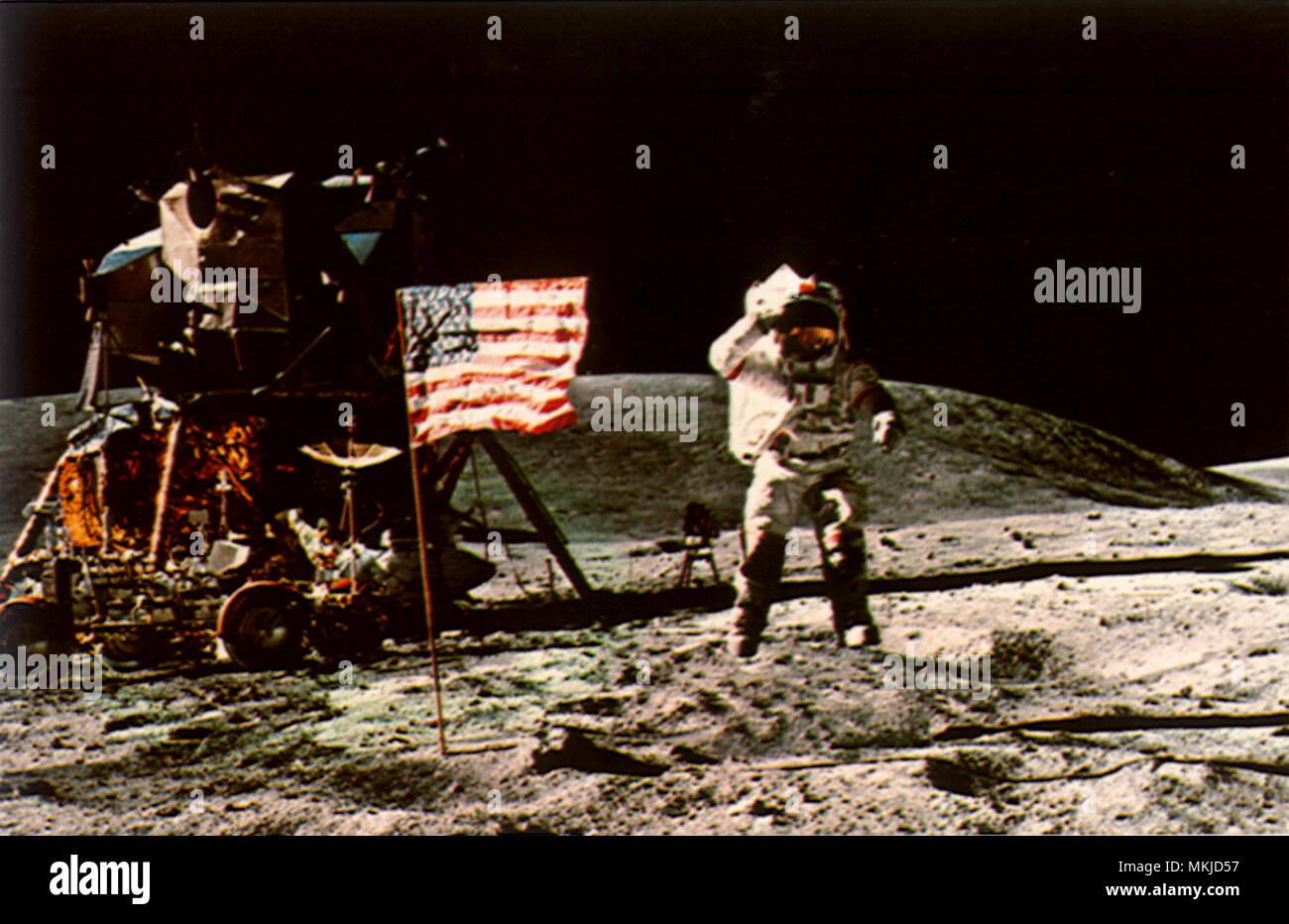 Man on the Moon - Stock Image