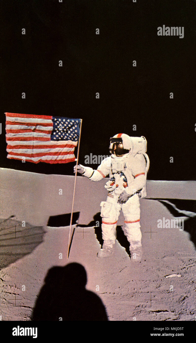 Man on Moon - Stock Image