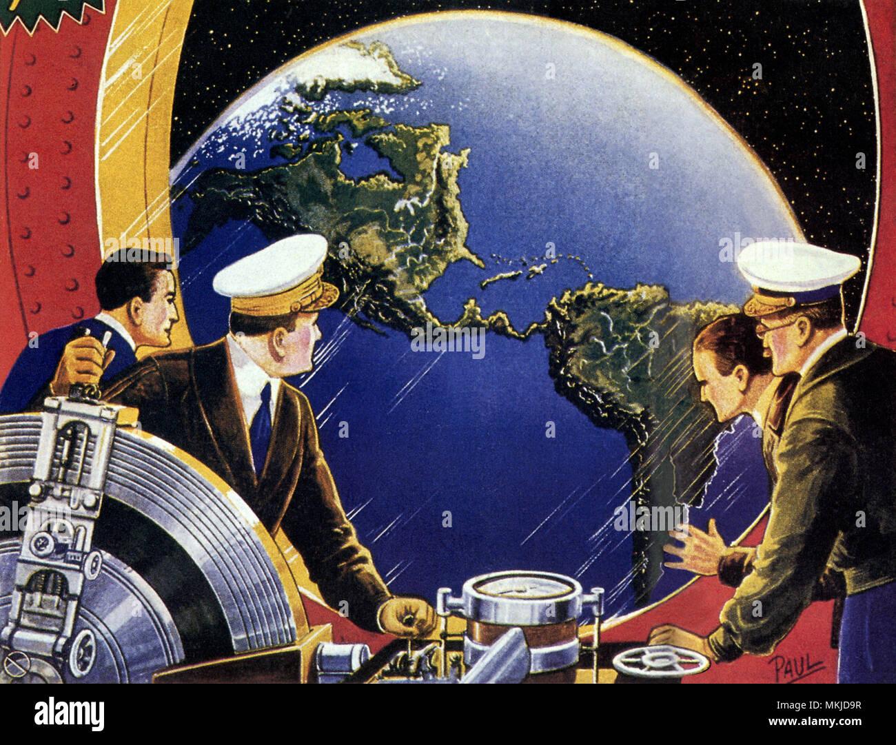 Sci Fi - Steering Spaceship - Stock Image