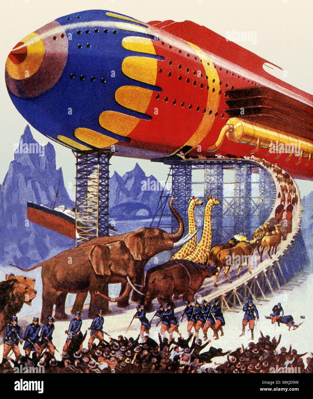 Sci Fi - Futuristic Noah's Ark - Stock Image