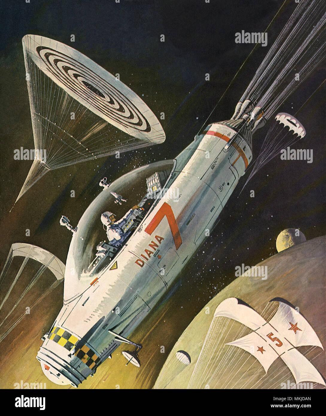 Sci Fi - Spaceship - Stock Image