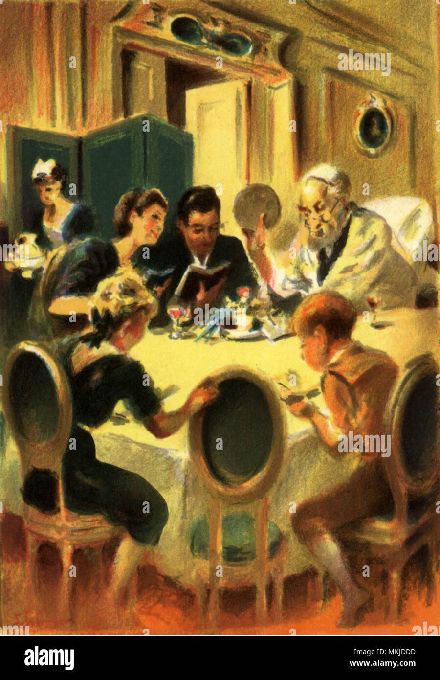 Passover Seder - Stock Image