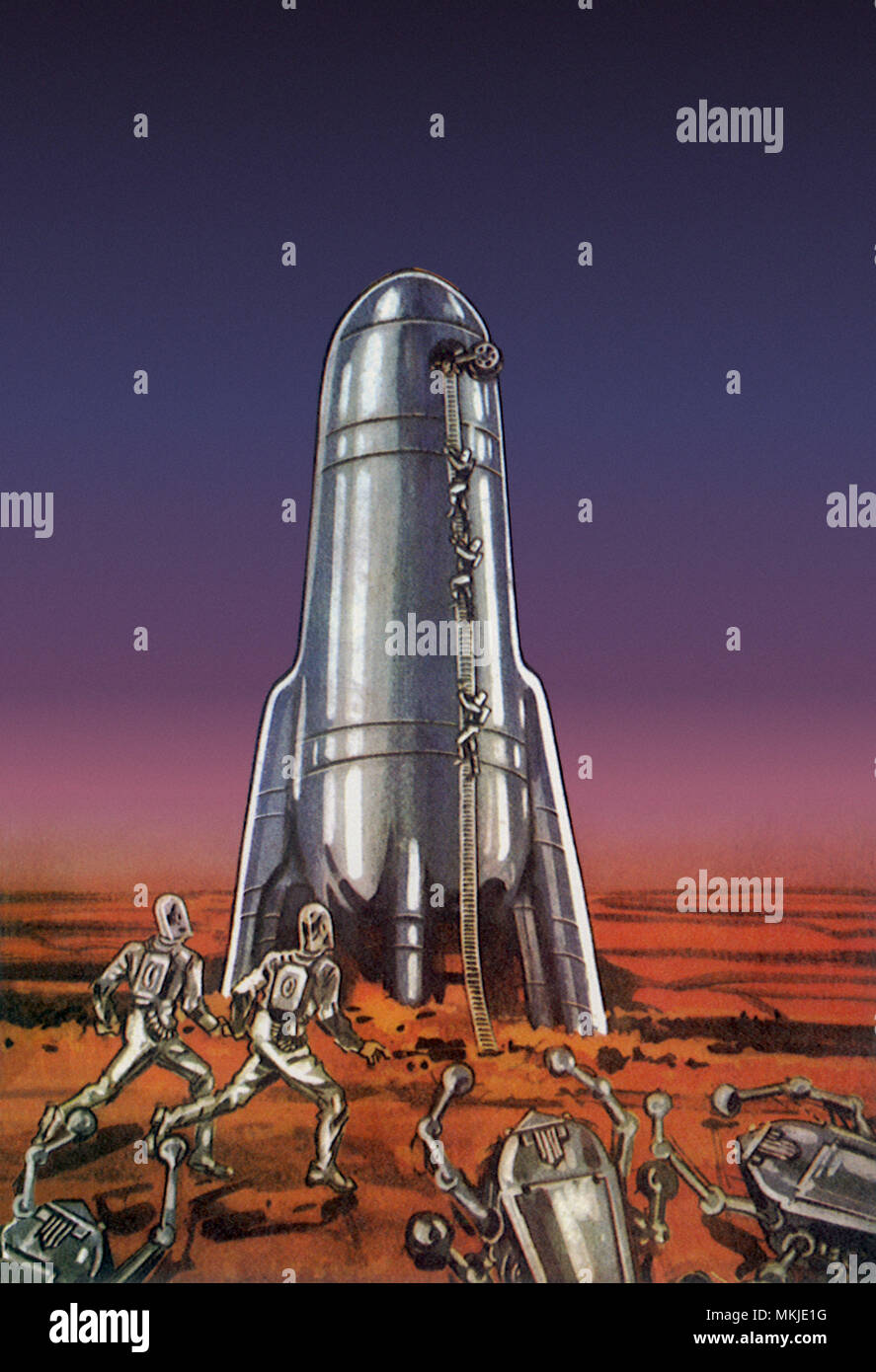 Sci Fi - Martian Aliens - Stock Image