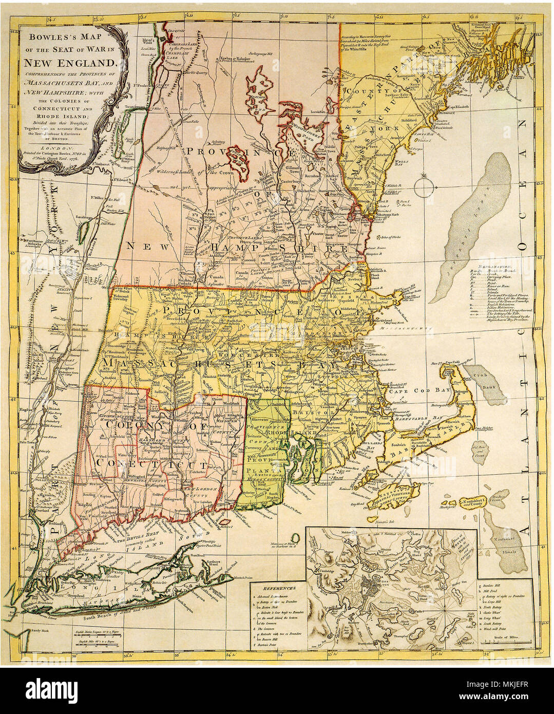 Map of New England 1776 Stock Photo: 184188699 - Alamy Map Of New England on map of long island 1776, map of north america 1776, map of nantucket 1776, map of manhattan 1776, map of africa 1776, map of germany 1776, map of great britain 1776, map of american colonies 1776, map of mexico 1776, map of united states 1776, map of texas 1776, map of dorchester heights 1776, map of california 1776, map of massachusetts 1776, map of philadelphia 1776, map of alaska 1776, map of canada 1776, map of russia 1776, map of trenton 1776, map of virginia 1776,