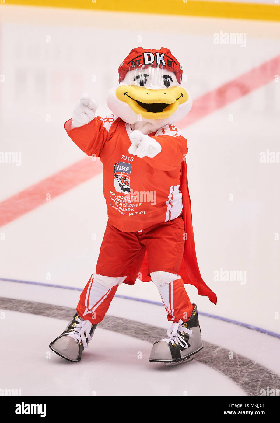 Ice Hockey World Cup 2018, Herning, May 07, 2018 Mascot DUCKLY GERMANY - USA  0-3 IIHF Icehockey World Championships 2018 DEB , in Herning, Denmark May 07, 2018 © Peter Schatz / Alamy Live News Stock Photo
