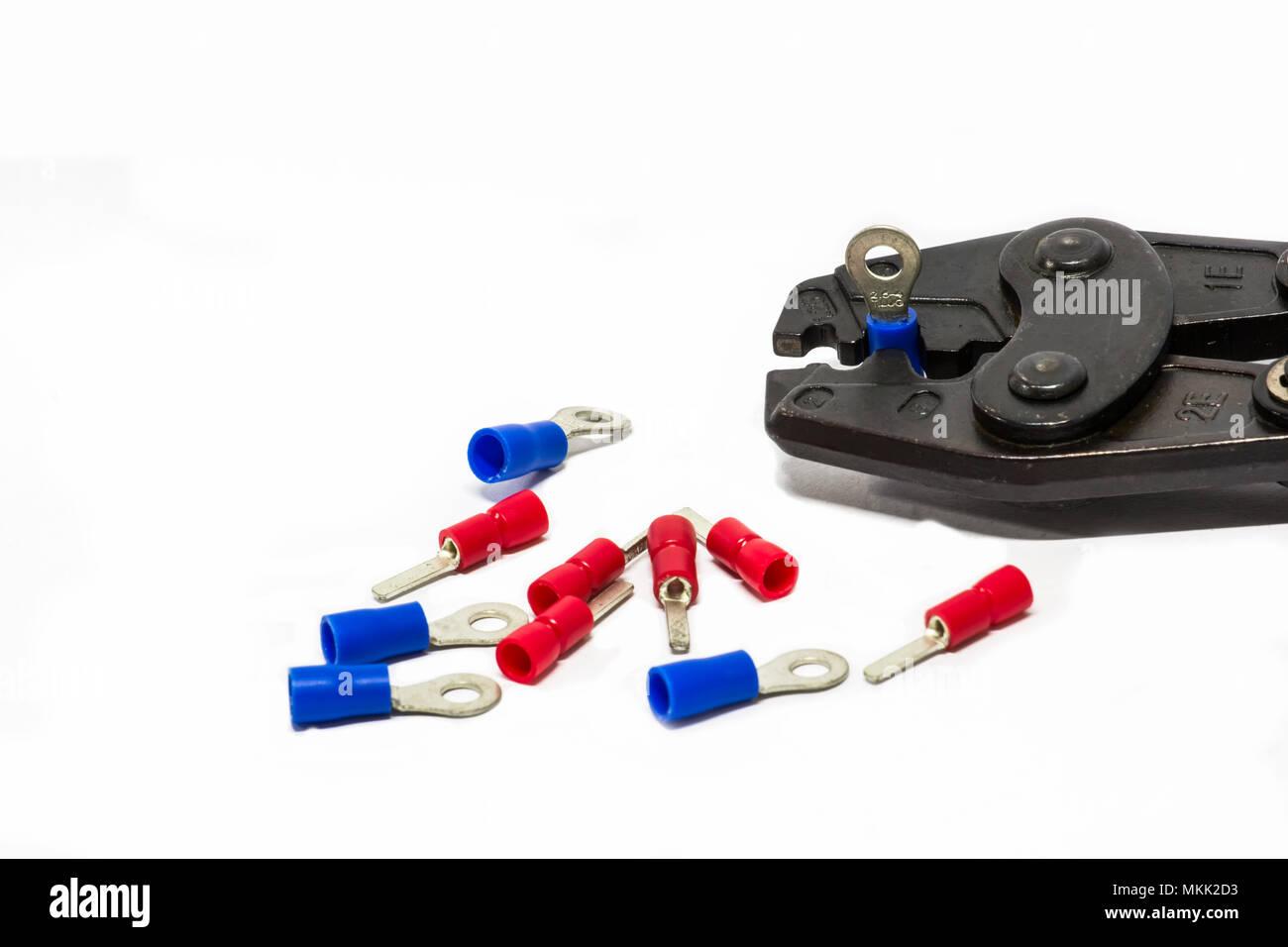 Electrical Terminal Crimping Tool Stock Photos & Electrical Terminal ...