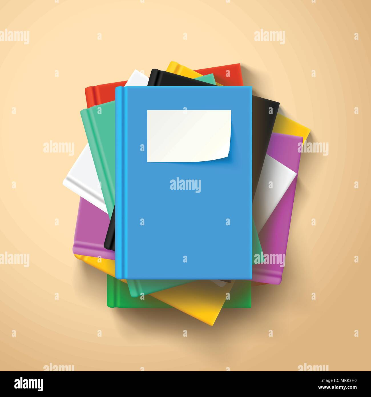 lying books in a stack - Stock Vector