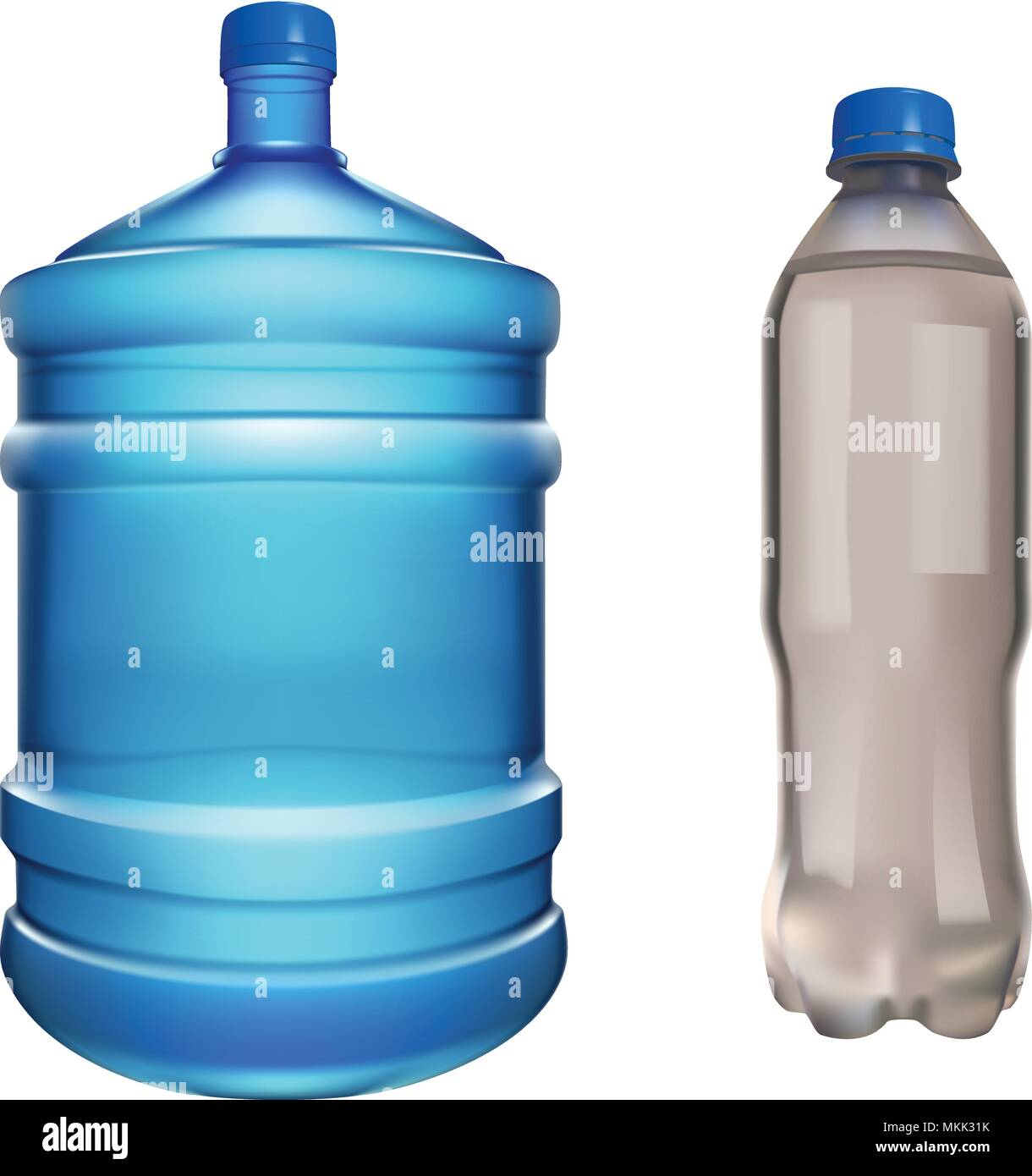 pair water bottles - Stock Vector