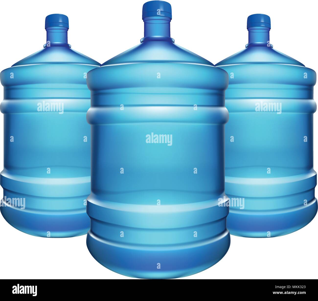 bottle water big 03 - Stock Vector