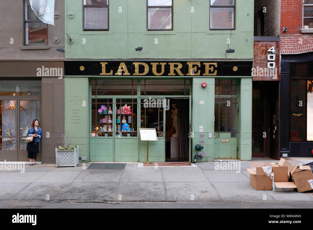 Laduree SoHo, 398 W Broadway, New York, NY. - Stock Image