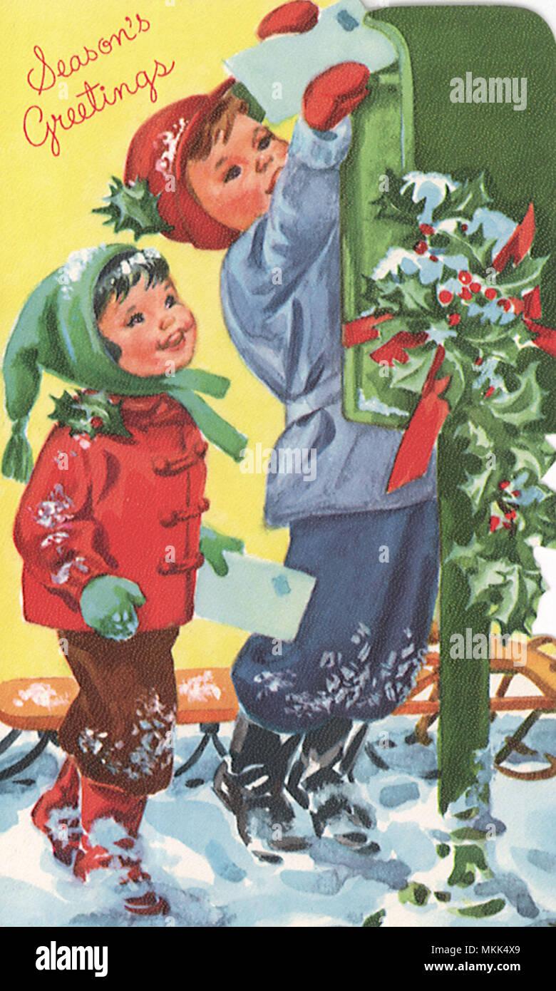 Mailing Christmas Cards Stock Photo: 184203105 - Alamy