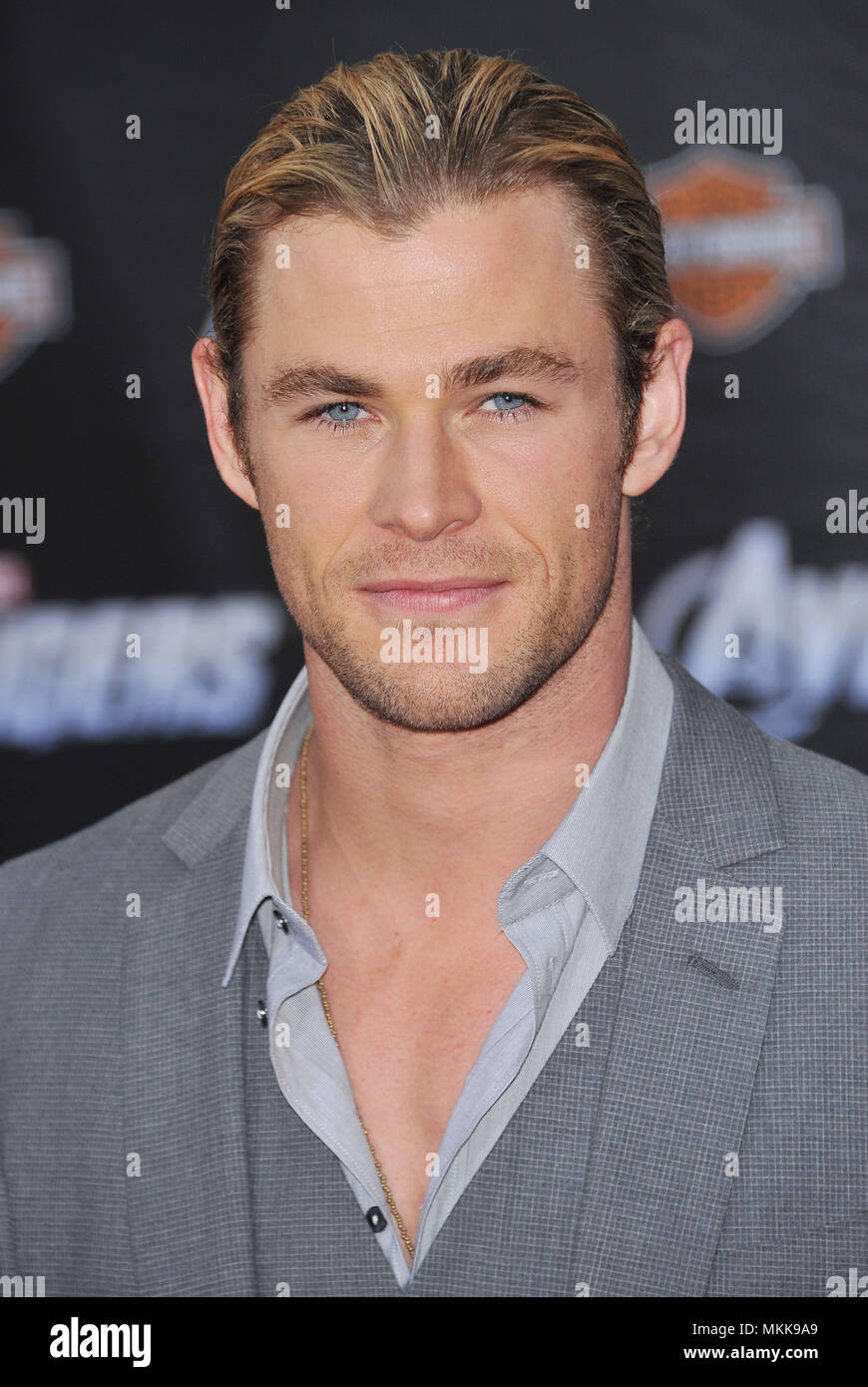 Chris Hemsworth  at the Avengers Premiere at the El Capitan Theatre In Los Angeles.Chris Hemsworth  38 Red Carpet Event, Vertical, USA, Film Industry, Celebrities,  Photography, Bestof, Arts Culture and Entertainment, Topix Celebrities fashion /  Vertical, Best of, Event in Hollywood Life - California,  Red Carpet and backstage, USA, Film Industry, Celebrities,  movie celebrities, TV celebrities, Music celebrities, Photography, Bestof, Arts Culture and Entertainment,  Topix, headshot, vertical, one person,, from the year , 2012, inquiry tsuni@Gamma-USA.com Stock Photo
