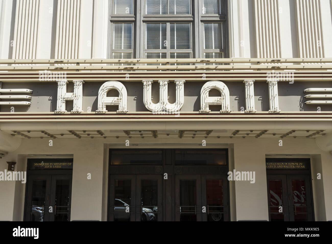 Hawaii Teatre 1922 - Stock Image