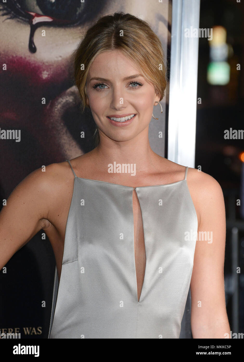 Annabelle Wallis 486 at the Annabelle Premiere at the TCL Chinese Theatre in Los Angeles.Annabelle Wallis 486 Red Carpet Event, Vertical, USA, Film Industry, Celebrities,  Photography, Bestof, Arts Culture and Entertainment, Topix Celebrities fashion /  Vertical, Best of, Event in Hollywood Life - California,  Red Carpet and backstage, USA, Film Industry, Celebrities,  movie celebrities, TV celebrities, Music celebrities, Photography, Bestof, Arts Culture and Entertainment,  Topix, headshot, vertical, one person,, from the year , 2014, inquiry tsuni@Gamma-USA.com - Stock Image