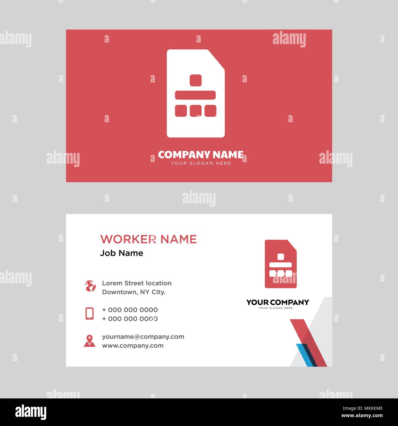 Sim card business design template, Visiting for your company, Modern ...