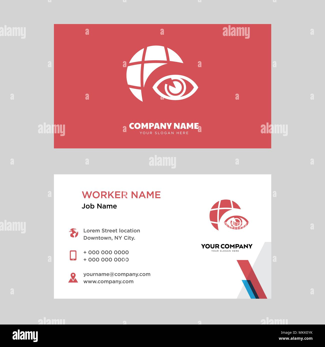 Globe business card design template visiting for your company globe business card design template visiting for your company modern horizontal identity card vector reheart Images