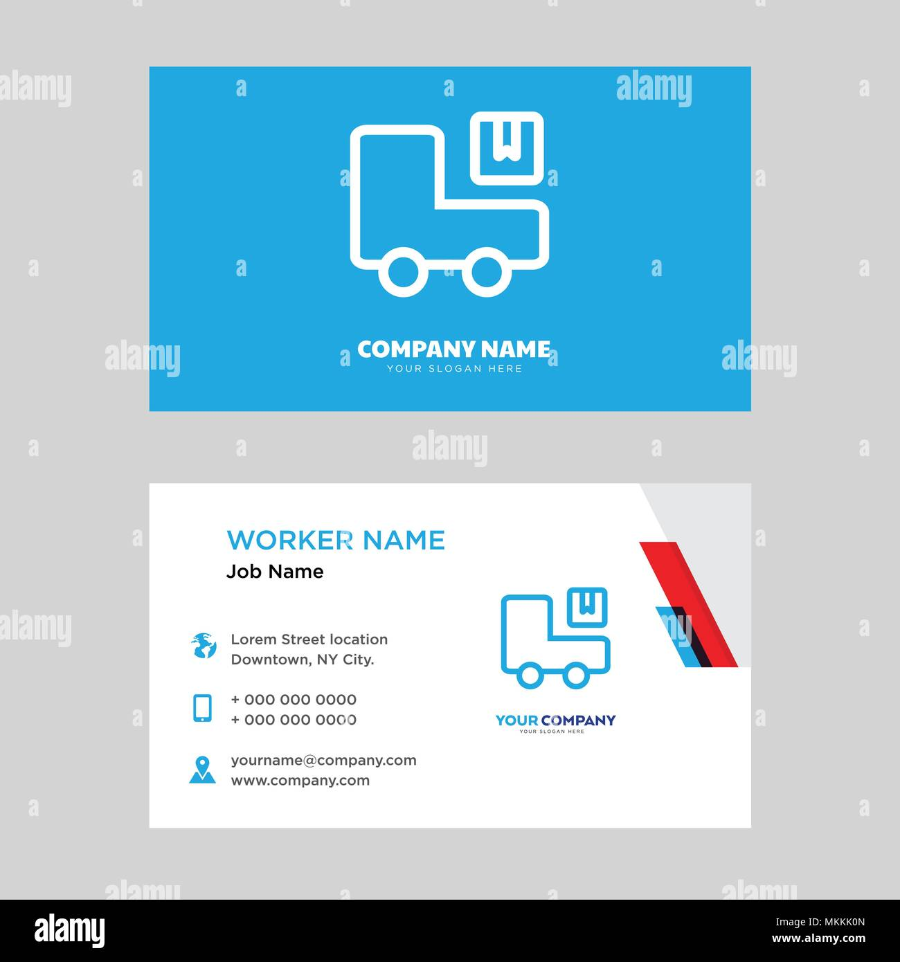Logistics business card design template visiting for your company logistics business card design template visiting for your company modern horizontal identity card vector reheart Images