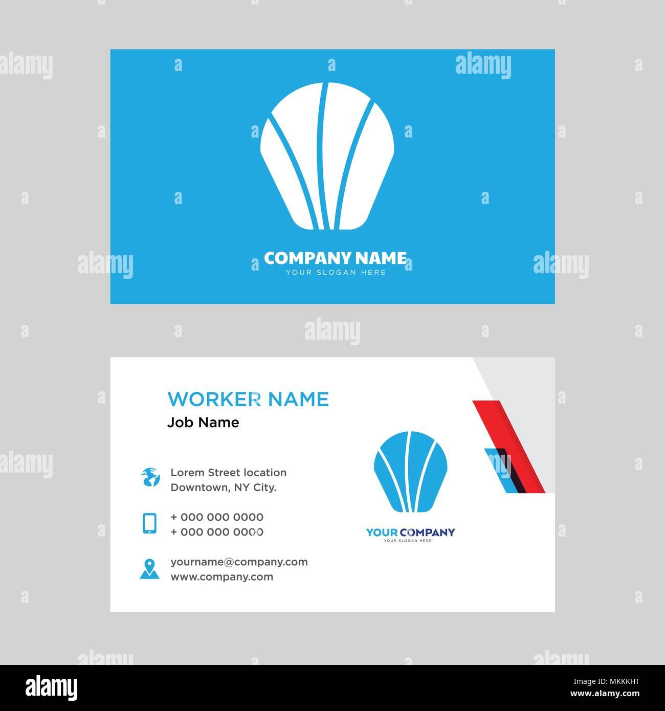 Sea shell business card design template visiting for your company sea shell business card design template visiting for your company modern horizontal identity card vector colourmoves