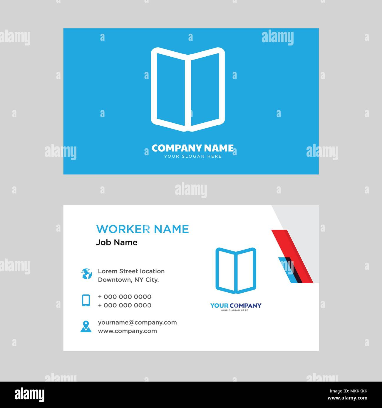 Map business card design template, Visiting for your company, Modern ...
