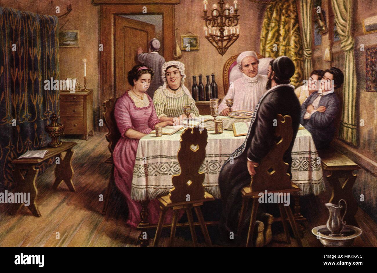 Celebrating the Seder - Stock Image