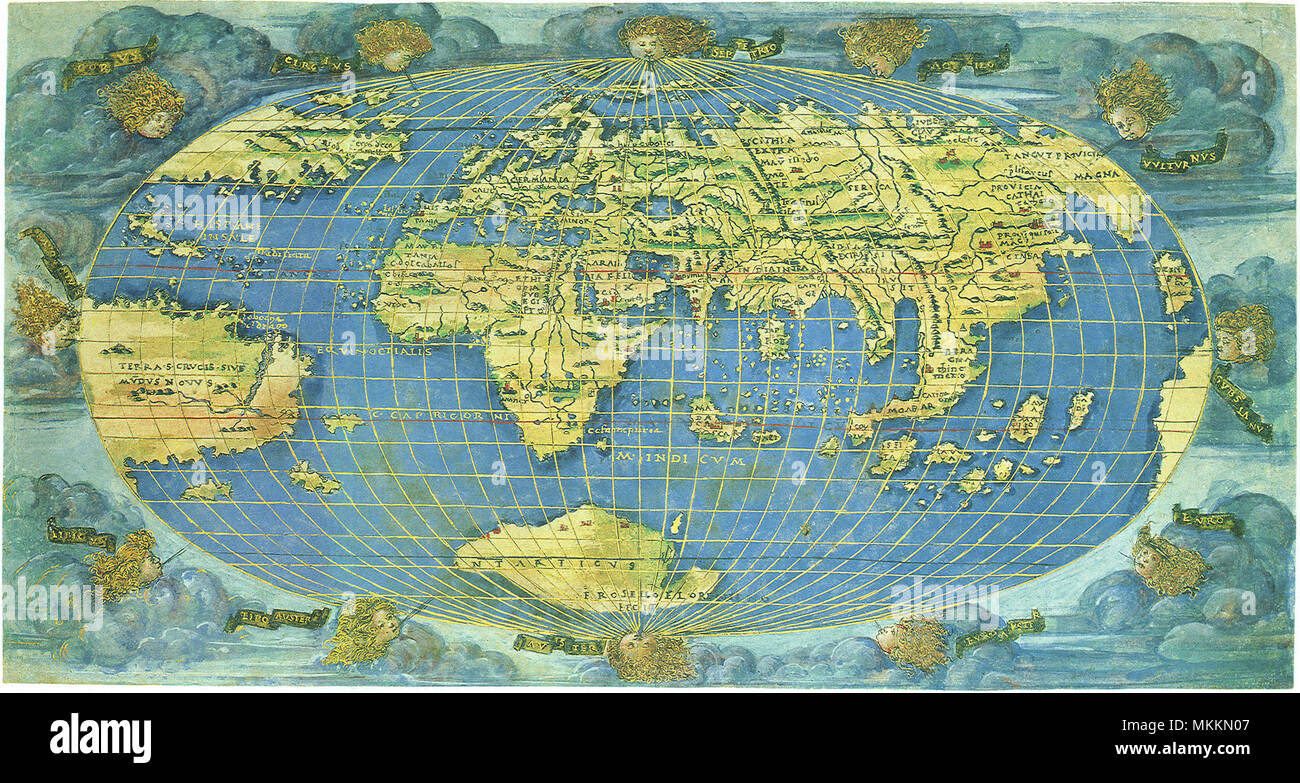 First World Map in Whole 1508 Stock Photo: 184215703 - Alamy