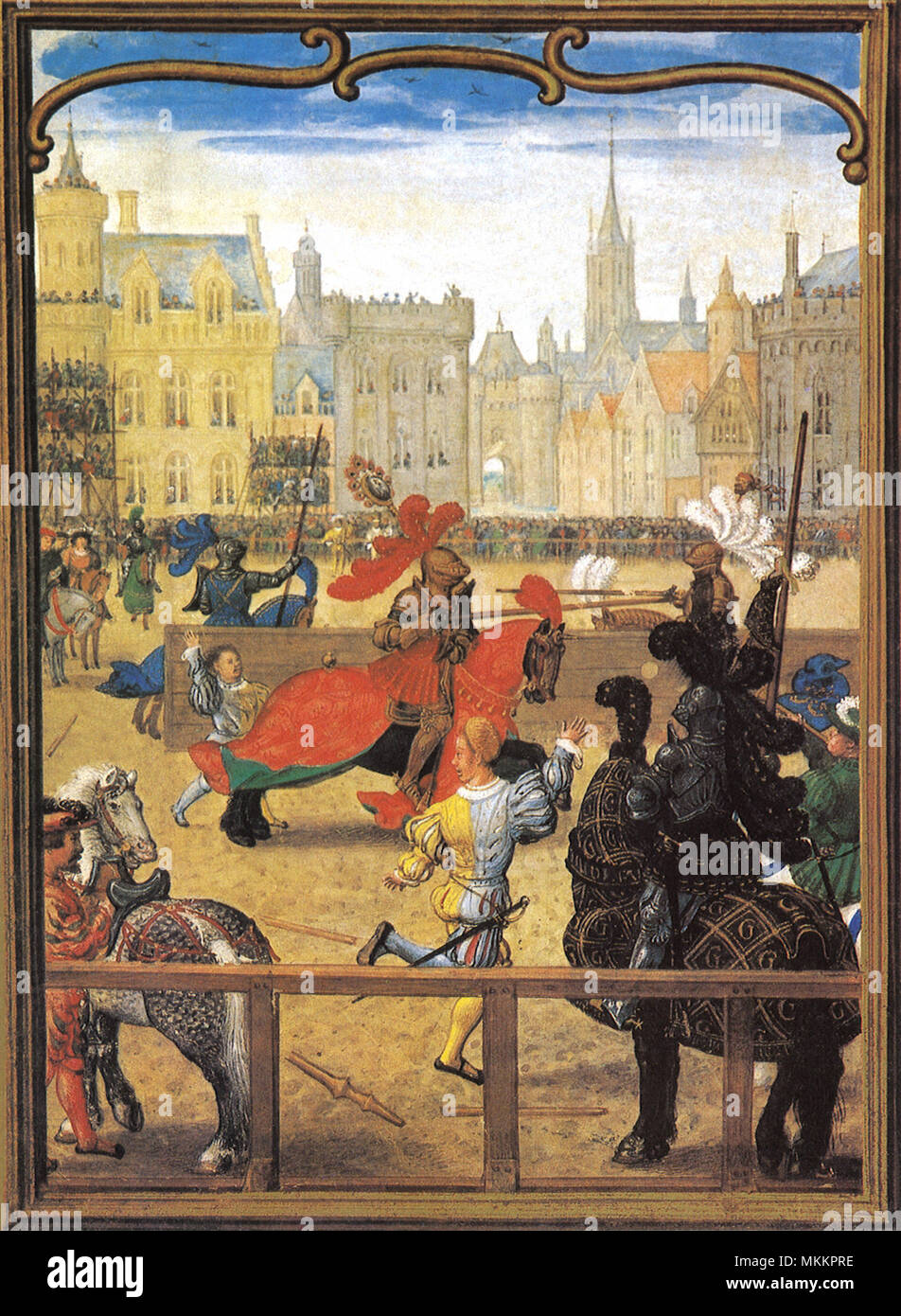 Jousting Knights 1550 - Stock Image