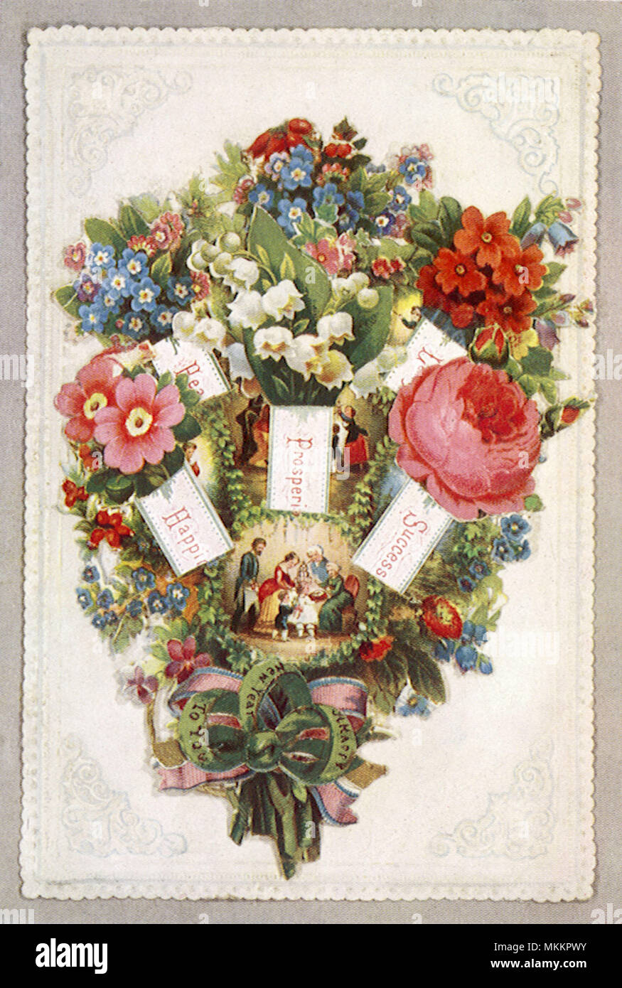 Bouquet with Tableau - Stock Image