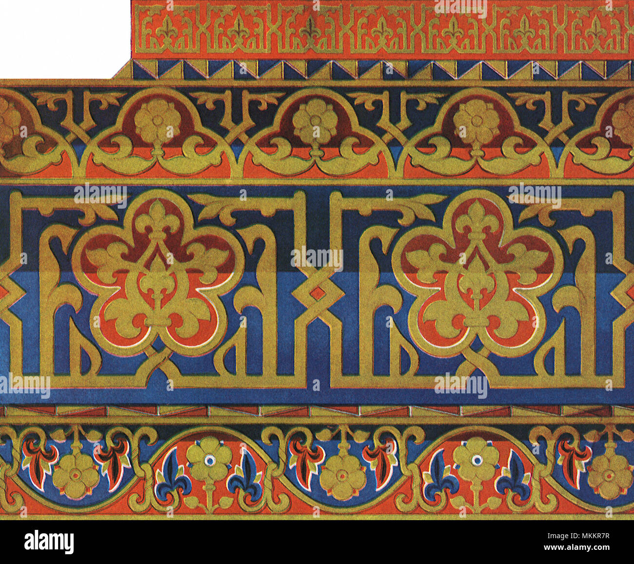 Pattern with Gilt Motifs - Stock Image
