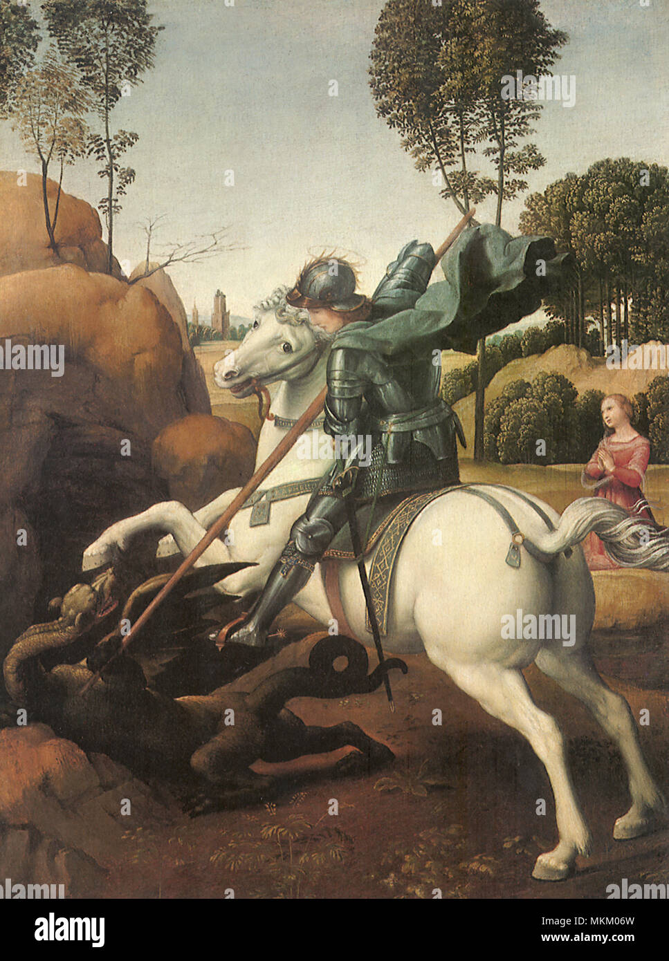 St. George and the Dragon 1505 - Stock Image