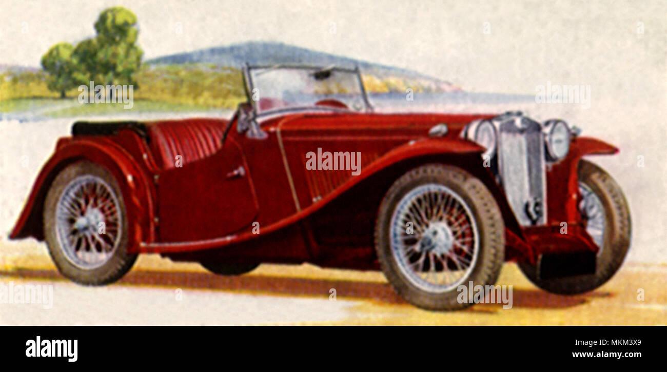 1936 MG Midget 2-Seater - Stock Image