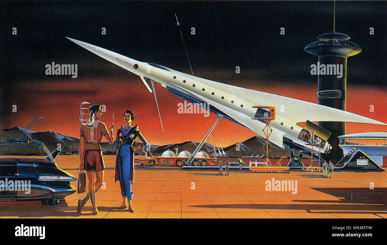 Sci Fi - Spaceport Stock Photo
