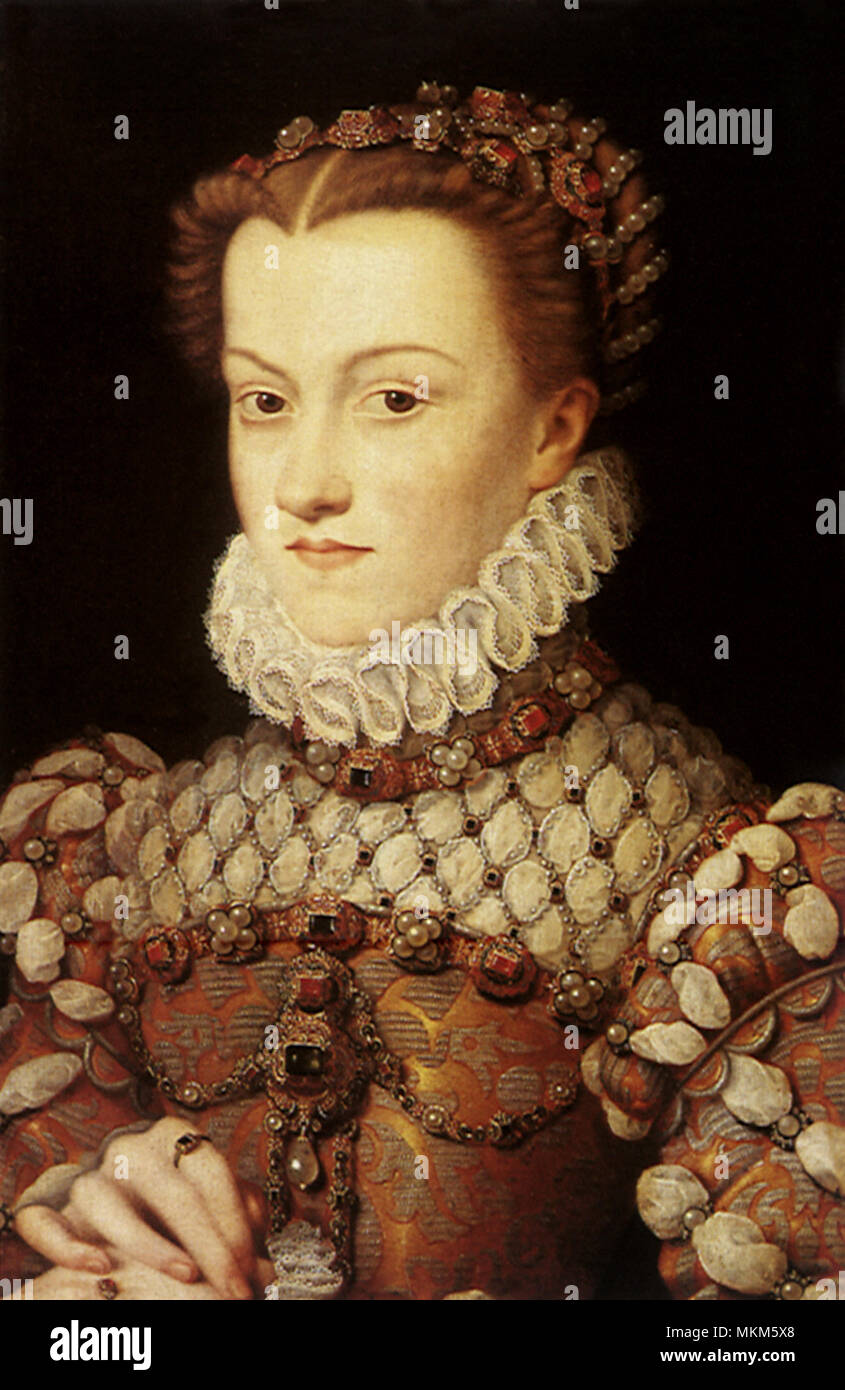 Elizabeth of Austria 1571 - Stock Image