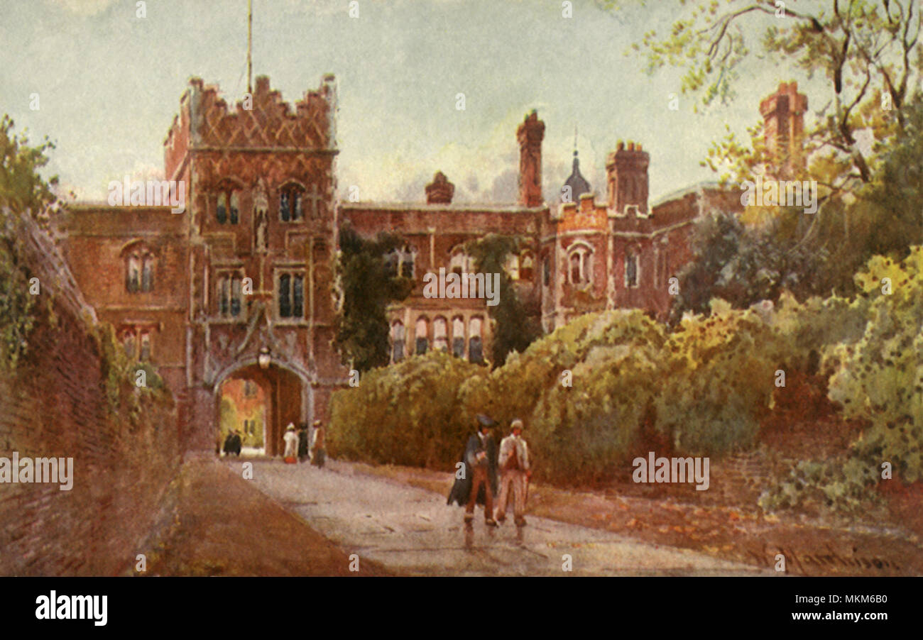 Jesus College. Cambridge. - Stock Image