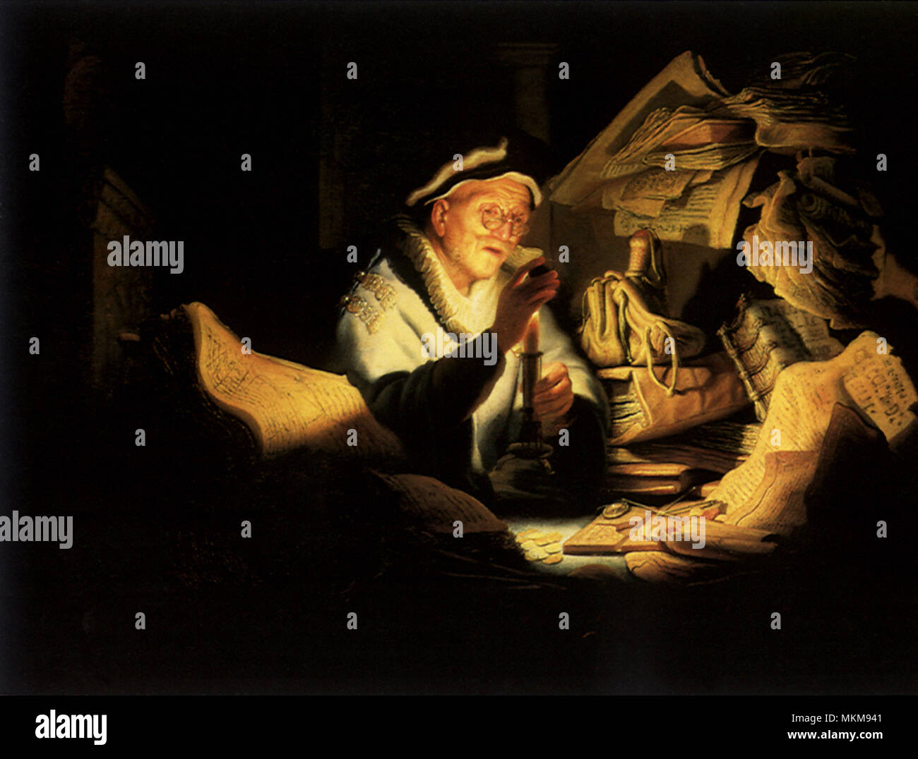 Parable of the Rich Man - Stock Image