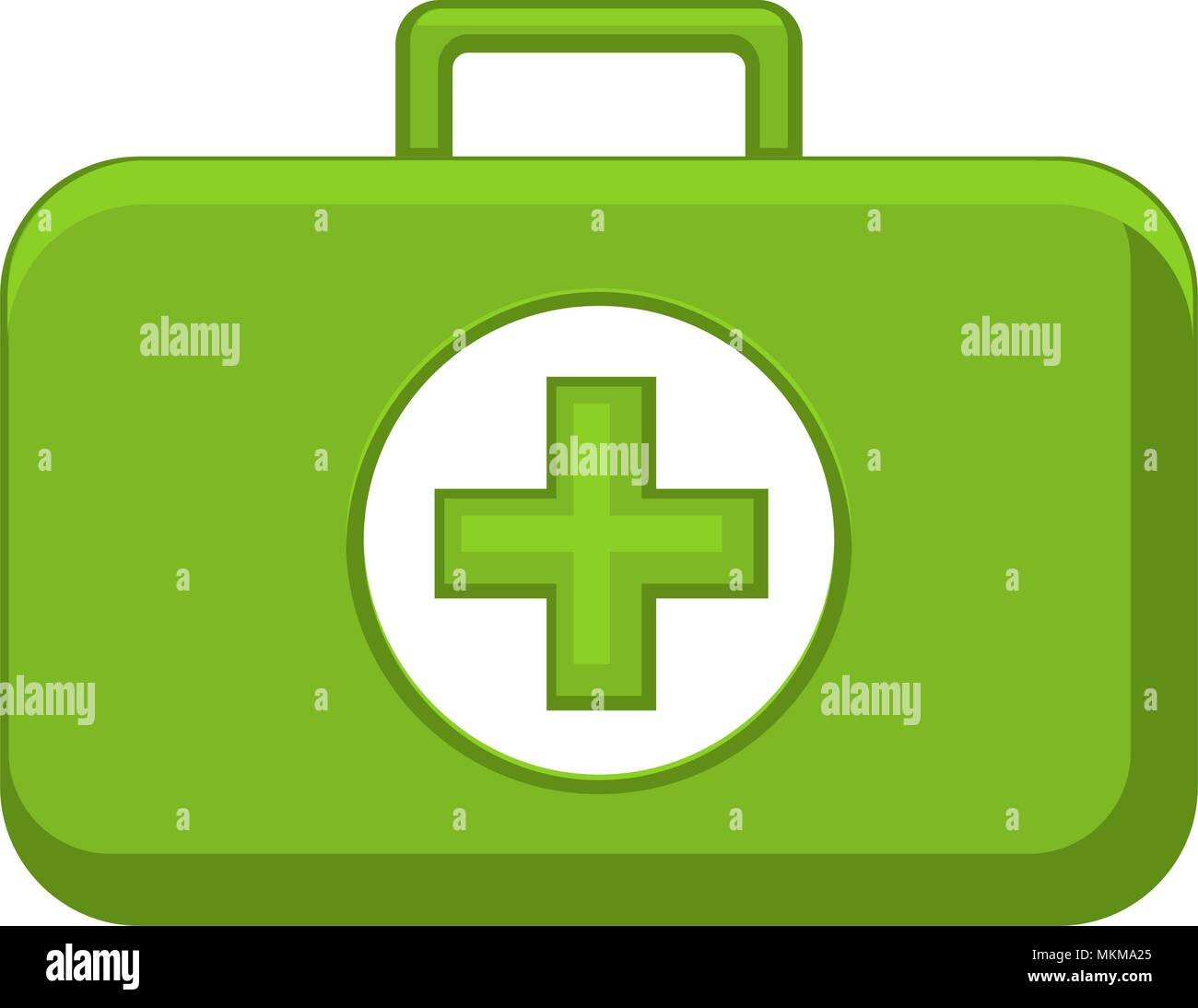 Bright Colorful First Aid Kit Medical Vector Illustration For Icon