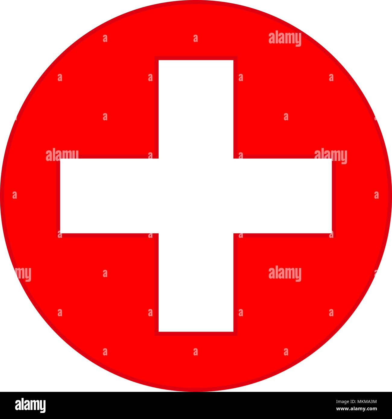Colorful Red Medical Cross Symbol Healthcare Themed Vector