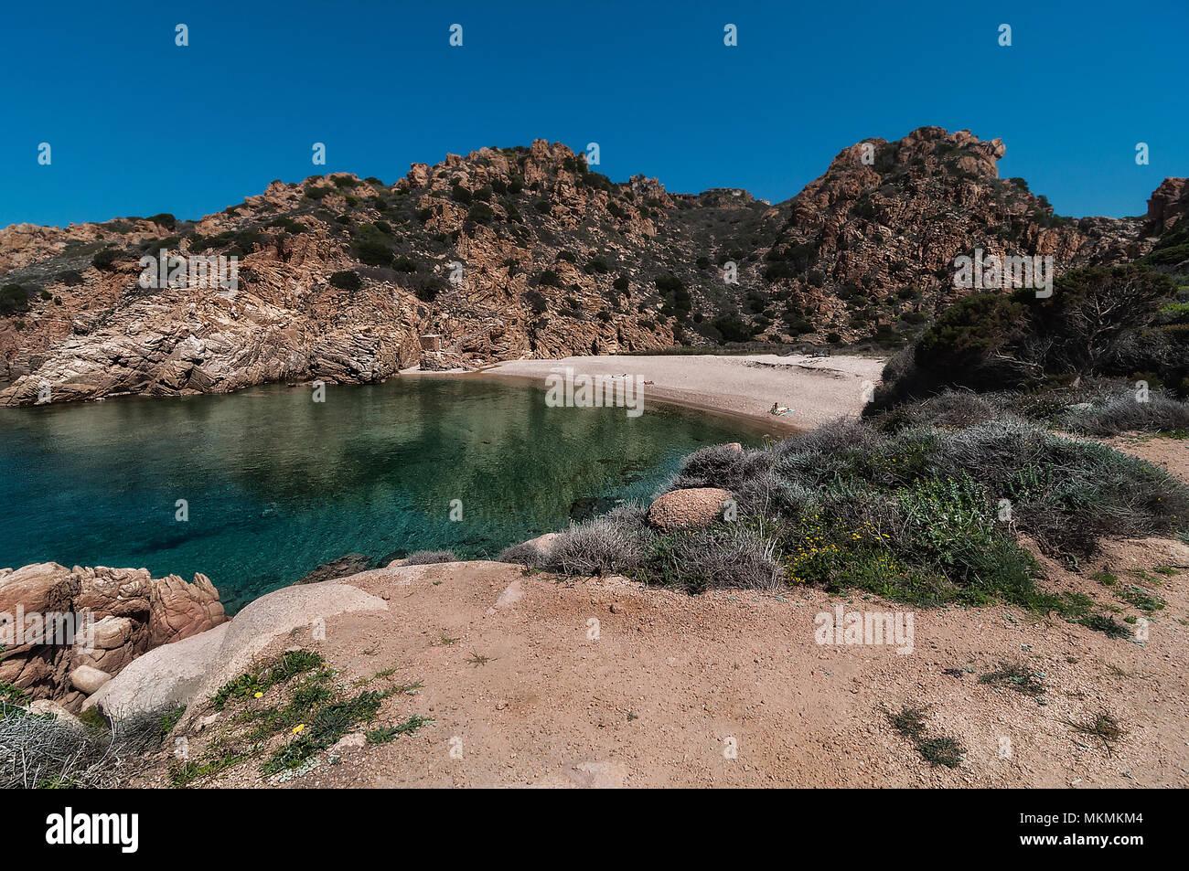 Li Cossi Bay Costa Paradiso Sardinia island Italy summer 2018 Stock Photo