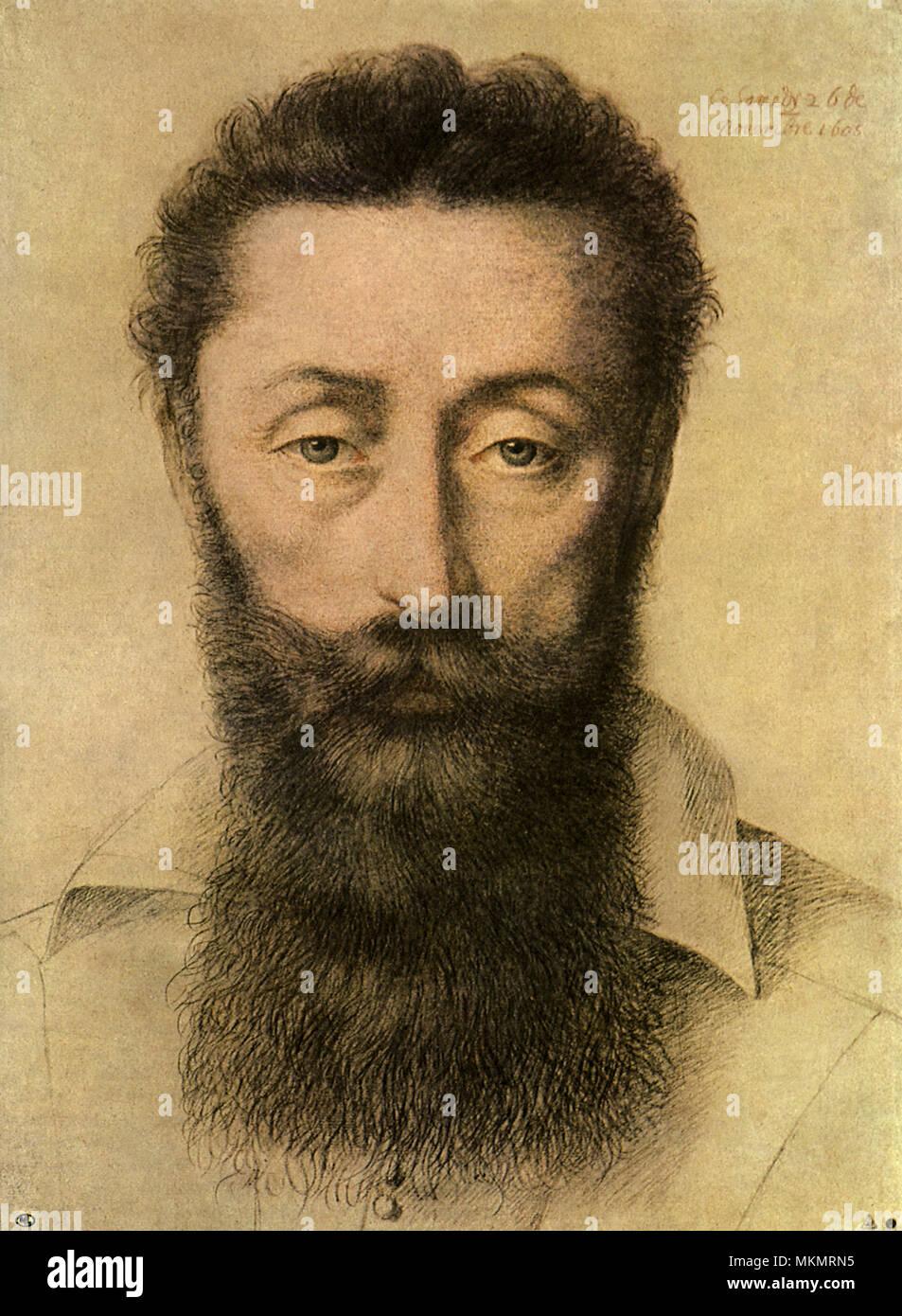 Chancellor Portrait 1605 - Stock Image