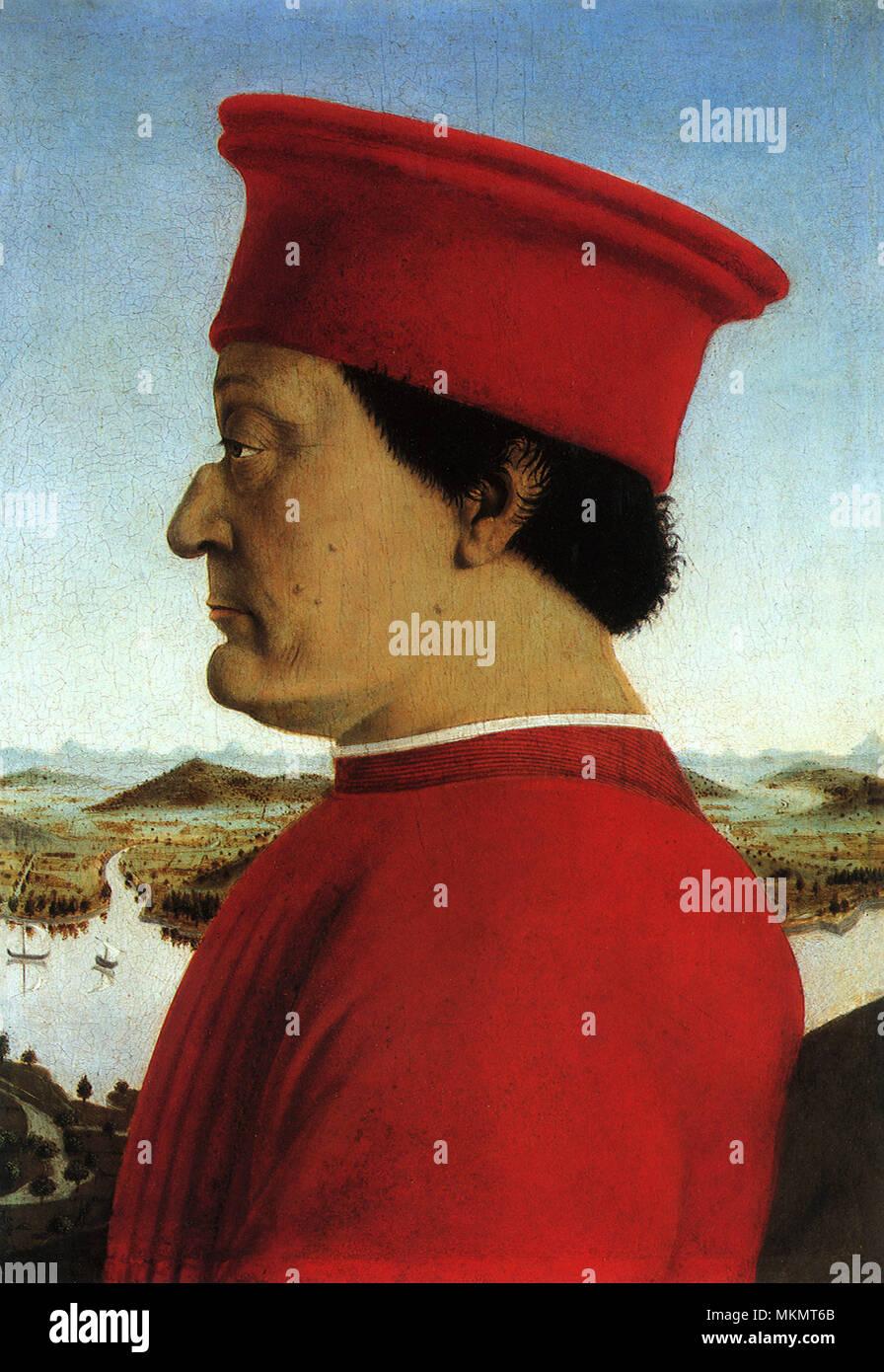 Portrait of Duke 1465 - Stock Image