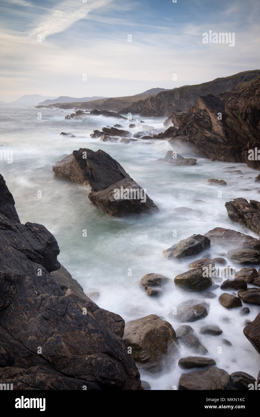 Overlooking the dramatic Cliffs of Achill Island County Mayo Ireland - Stock Image