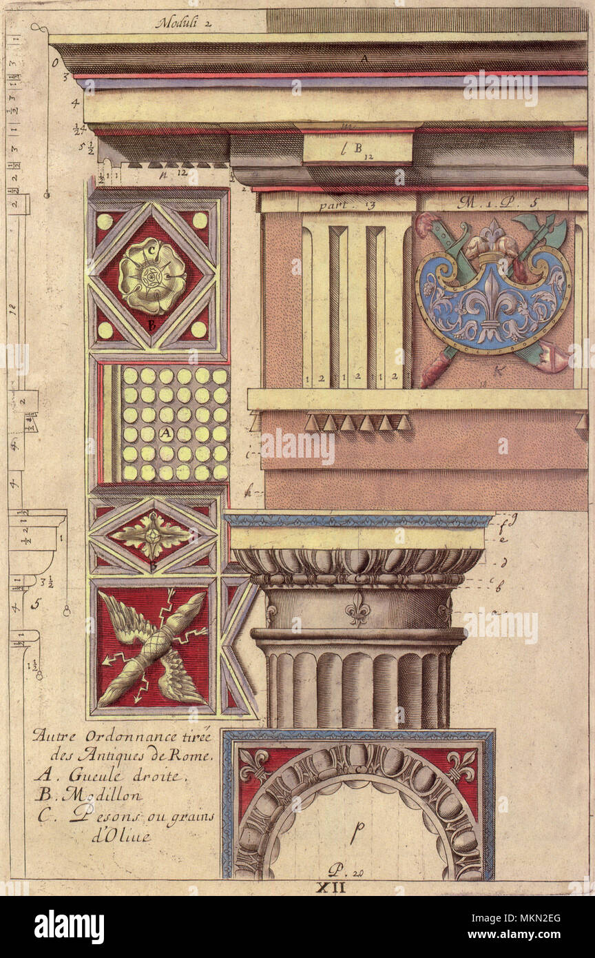 Capital and Entablature - Stock Image
