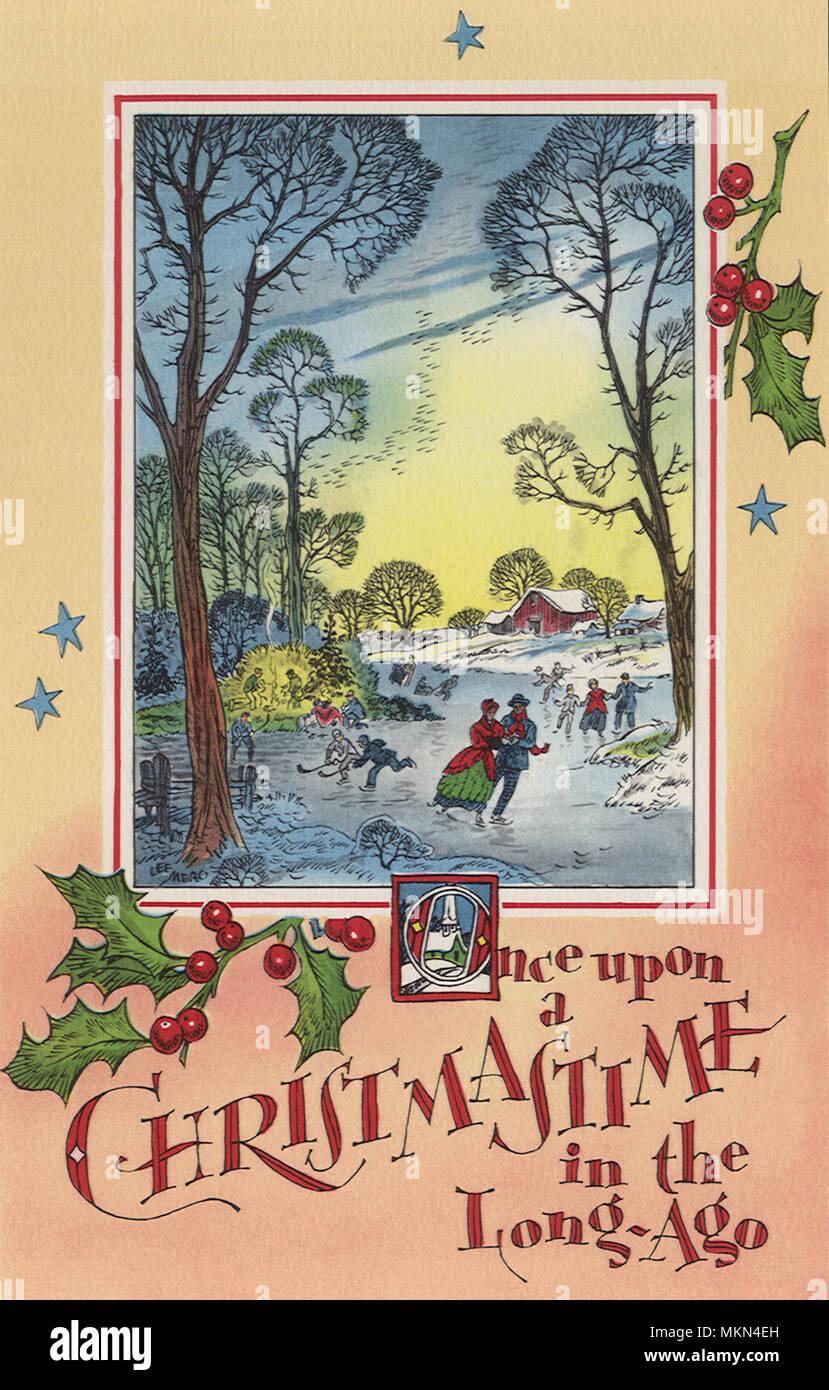 Christmastime Skating - Stock Image