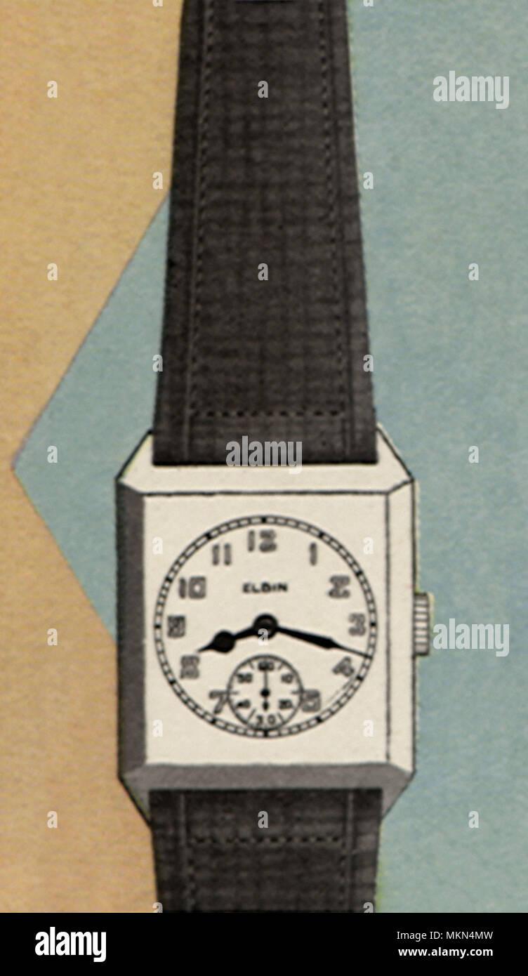 Rectangular Watch - Stock Image