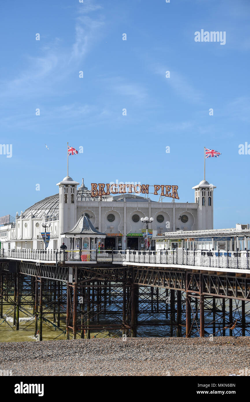 Brighton Palace Pier East Sussex UK Photograph taken by Simon Dack - Stock Image