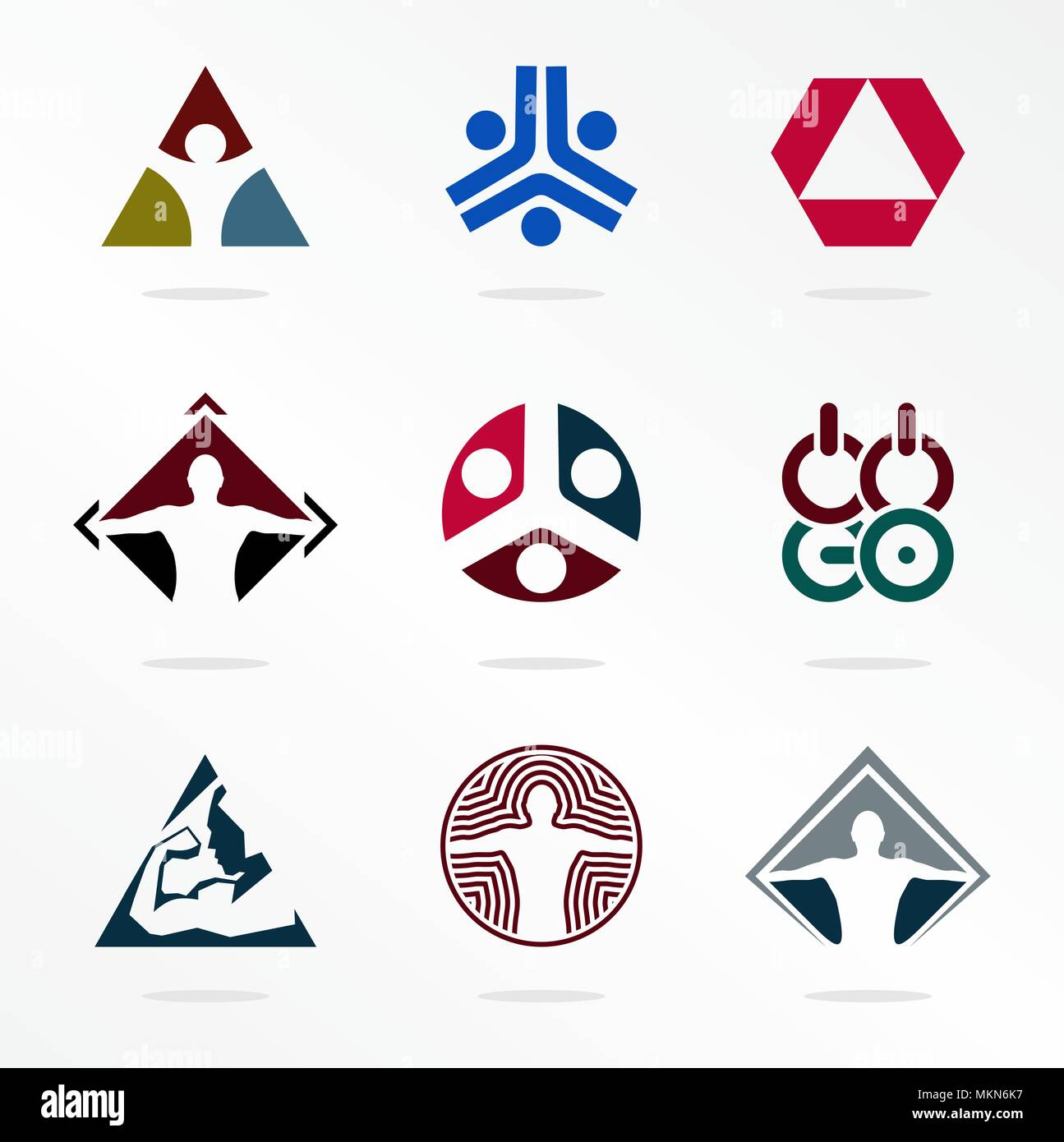 Sport Vector Sport Logos Abstract Logotype Organization Icons For